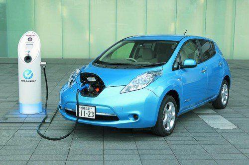 Erfolgreiches E-Modell: Nissan Leaf. Foto: werk