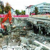Brückenabriss in Dornbirn liegt im Zeitplan