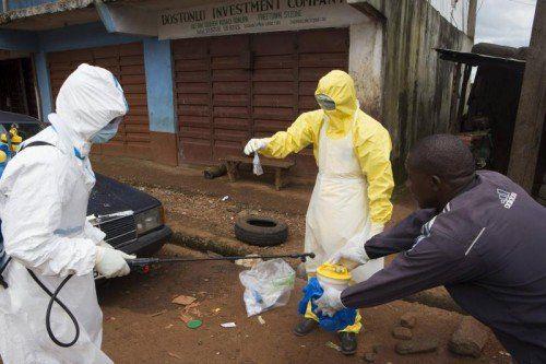 Fast 4500 Menschen, die meisten in Westafrika, sind der Krankheit seit Beginn der Epidemie Anfang des Jahres erlegen. Foto: Reuters