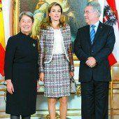 Spanische Königin auf Soloreise in Wien