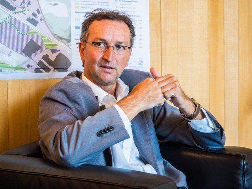 """""""Finanzkonsolidierung angesagt"""": Bürgermeister Lauermann.  MK"""