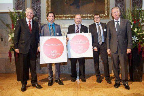 Gewinner ACR Kooperationspreis 2014: ZIMM Maschinenelemente und V-Research.  Foto: ACR