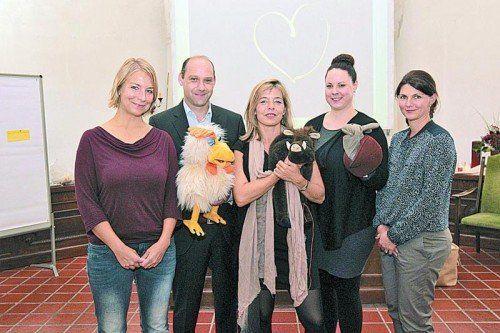 Hilde Boss, Rainer Längle, Anja Hampel, Rebecca Emberson-Borufka und Marion Feurle (v. l.).  Fotos: A. Meusburger