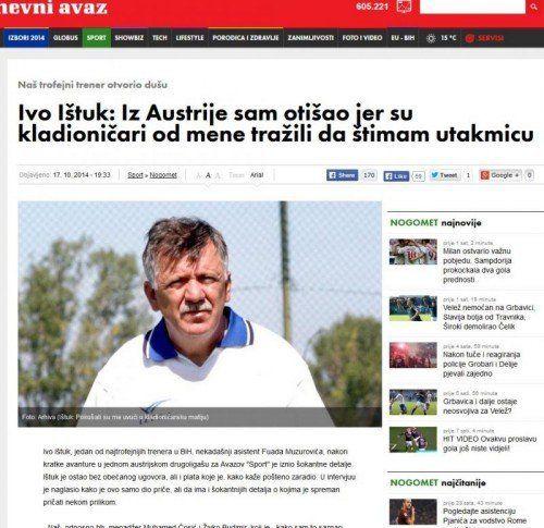 Im Internet wurde das Interview mit Ivo Istuk veröffentlicht.