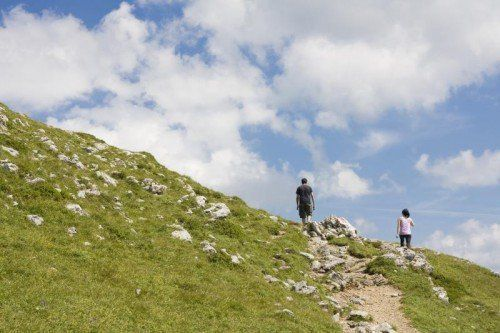 In der Kletterführerliteratur wird der Springlessteig als einfach eingestuft.  Symbolfoto