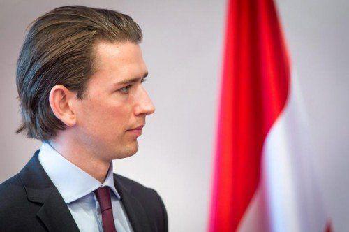 Integrationsminister Sebastian Kurz.  FOTO: EPA