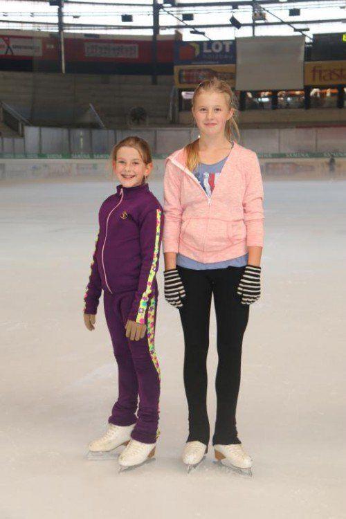Isabelle und Nela freuen sich auf die neue Eislaufsaison.  Foto: etu