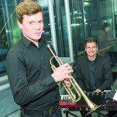 Jakob und Julian sorgten für die musikalische Umrahmung der Veranstaltung. VN/Stiplovsek