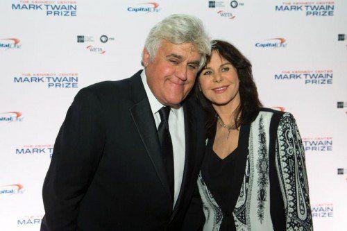 Jay Leno mit seiner Frau Mavis bei der Verleihung. Foto: Reuters