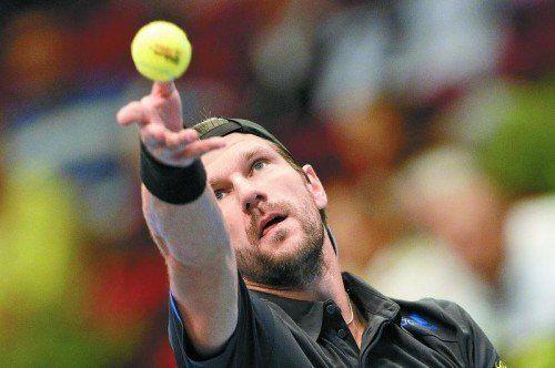 """Jürgen Melzer (Bild) scheiterte in Wien an einem effektiven Ivo Karlovic: """"Ich habe nicht das Gefühl, ein Tennismatch gespielt zu haben."""" Foto: apa"""