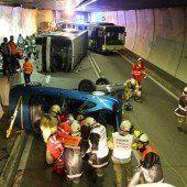 Horrorszenario im Tunnel