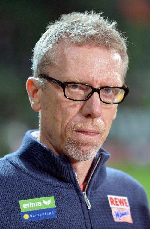 Köln-Trainer Peter Stöger. Foto: epa