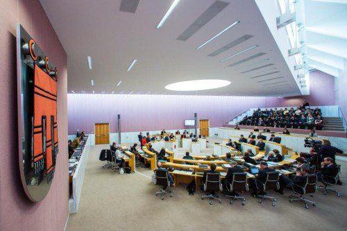 Konstitutiert sich heute Vormittag mit Festsitzung: der Vorarlberger Landtag in Bregenz.  Foto: MK