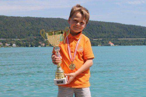 Leopold Wagner wurde U-8-Meister im Standardschach. Privat