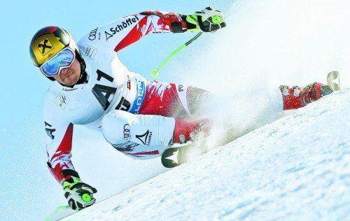 Marcel Hirscher fuhr im ersten Saisonrennen gleich wieder ins rote Trikot des Weltcup-Führenden. Foto: gepa