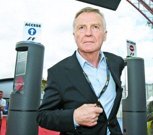 Max Mosley, ehemaliger Präsident des Motorsport-Weltverbands, tritt für eine Budgetobergrenze in der Formel 1 ein. Foto: ap
