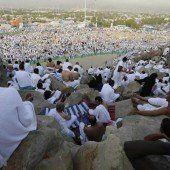Mehr als eine Million Muslime strömten zum Opferfest nach Mekka
