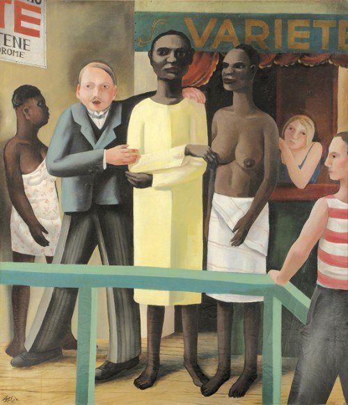 """Otto Rudolf Schatz (1900–1961): """"Die Schaustellung"""" wird in der Ausstellung """"Das ist Österreich!"""" in Bregenz zu sehen sein.  Foto: VM"""