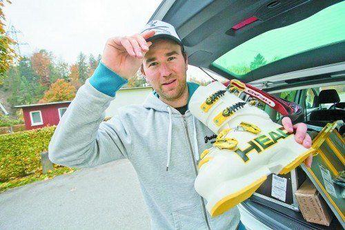 Patrick Bechter wechselte nach zehn Jahren Rennerfahrung im Weltcup ins Schuhservice von Ausstatter Head. Foto: steurer