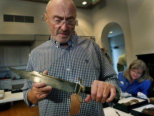 Phil Collins schenkt Texas seine Alamo-Sammlung. Foto: ap