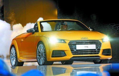 Roadsterpremiere Audi zeigt nach dem Coupé (die VN berichteten in der Vorwoche) jetzt erstmals die Roadsterversion des neuen  TT. Das Leistungsspektrum der drei Aggregate: 190 bis 310 PS.