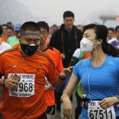 Marathon mit Maske