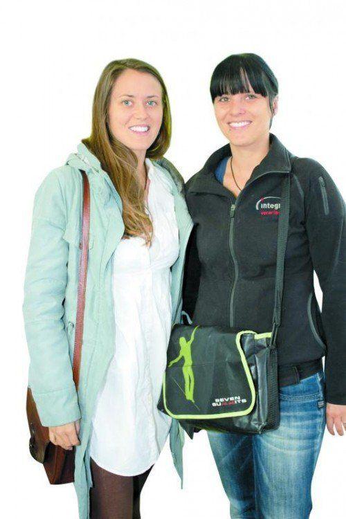 Sarah Schendinger (Lehre im Wal- gau) und Manuela Seifert (Produktionsschule integra). Fotos: franc