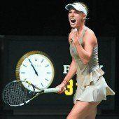 Wozniacki setzt Scharapowa unter Druck