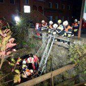 Lochau: Feuerwehr eilt Betrunkenem zu Hilfe