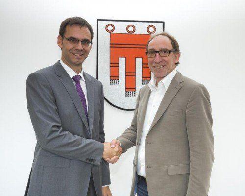 Starten bereits am Donnerstag Regierungarbeit: LH Markus Wallner (l.) und Grünen-Chef Johannes Rauch.
