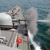 Schusswechsel zwischen zwei Marinebooten