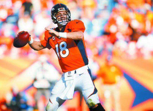 Touchdown-Pass Numemr 500: Peyton Manning. Foto: ap