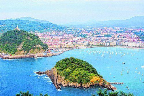 Traumhafte Aussicht in San Sebastian.