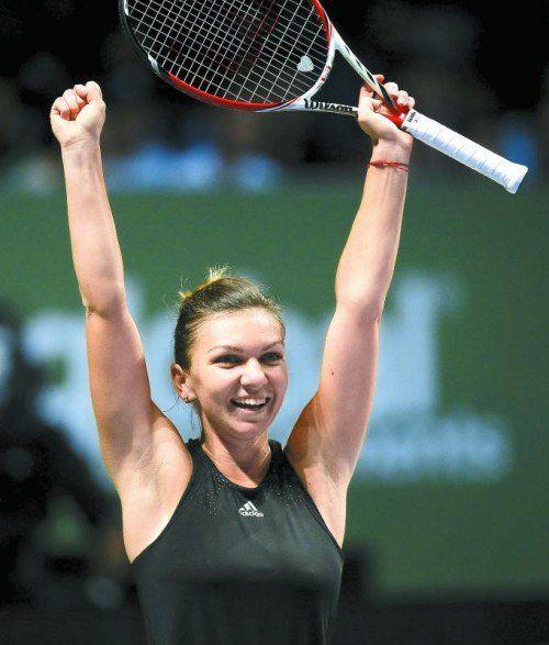 Triumph über die Nummer eins. Simona Halep. Foto: ap