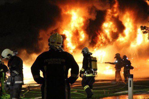 Feuerwehr im Großeinsatz.  Archiv