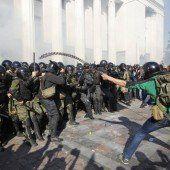 Aufstand vor Parlament