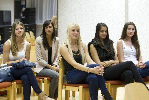 Vorarberger Misswahl 2014 Miss Vorarlberg Wahl Casting in der Team Agentur VERWENDUNG DER BILDER NUR IN ABSPRACHE VN REDAKTION (TANJA GÜFEL)