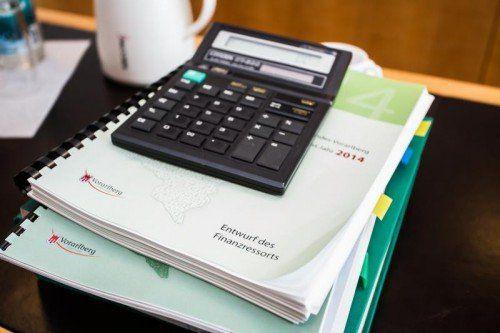 Wie viel Rücklagen dem Budget 2014 zugeschossen werden müssen, steht noch nicht fest. Foto: VN/Steurer