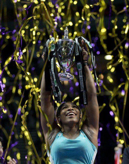 Williams feierte beim WTA-Finale ihren 64. Turniersieg. Foto: epa