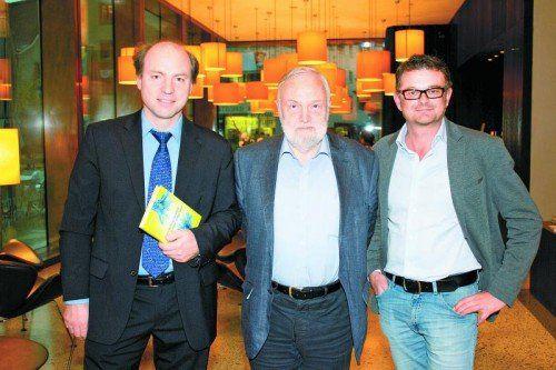 Wissenschaftler und Autor Matthias Sutter, Christian Mähr und Manfred Welte (vorarlberg museum, v. l.)  Fotos: Franc