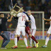 Ein Spielabbruch in Belgrad