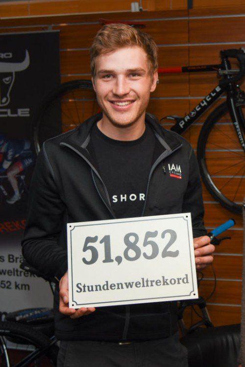 Am 30. Oktober fuhr Brändle den Stundenweltrekord. Foto: gepa