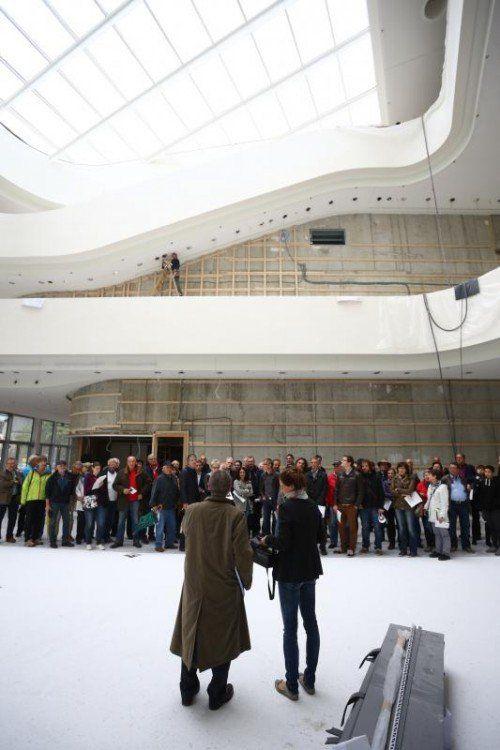 """Anfang nächsten Jahres wird das Montforthaus Feldkirch eröffnet, Mitte Februar startet der erste """"Zwischentöne""""-Block. Foto: VN"""