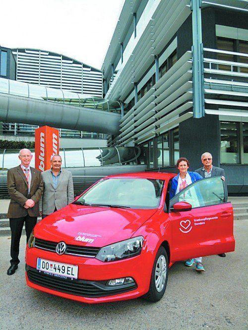 Autospende der Blum-Mitarbeiter an KPV Dornbirn.