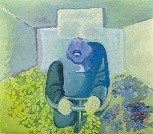 """Brettl vor dem Kopf"" (1967) von Maria Lassnig hat am Mittwoch 461.220 Euro erzielt.  FOTO: APA/ KINSKY"