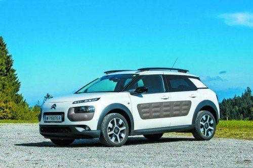 Citroën Cactus mit einzigartiger Optik: Radhäuser wie ein SUV und Kunststoffbeplankung an den Türen. Fotos: vn/Steurer