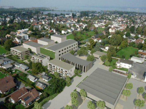 """Das Areal """"In der Wirke"""" in Hard wird zur Smart City Rheintal. Die ersten Maßnahmen sind bereits umgesetzt worden."""