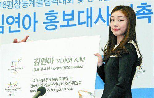 Das Gesicht der Spiele in Pyeongchang: Kim Yuna. Foto: apa
