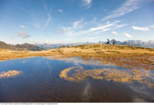 Der See am Portlahorn, oberhalb von Damüls im Bregenzerwald.  Foto: Vorarlberg Tourismus