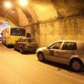 Auffahrunfall im Tunnel